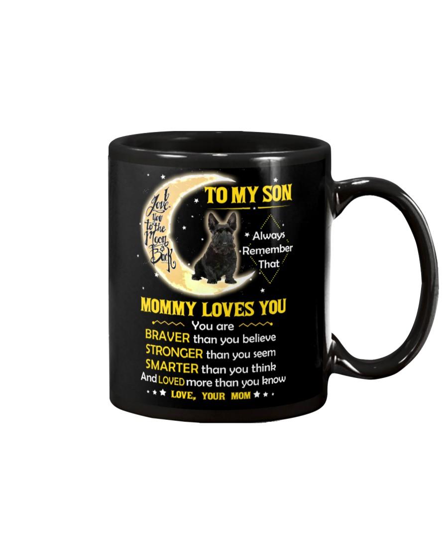 Scottish Terrier Son Mom Mommy Loves You Mug