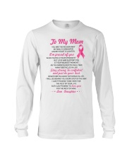 Reason My Smile Brighter Mom Breast Cancer Long Sleeve Tee thumbnail