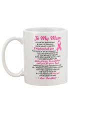 Reason My Smile Brighter Mom Breast Cancer Mug back