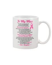 Reason My Smile Brighter Mom Breast Cancer Mug front