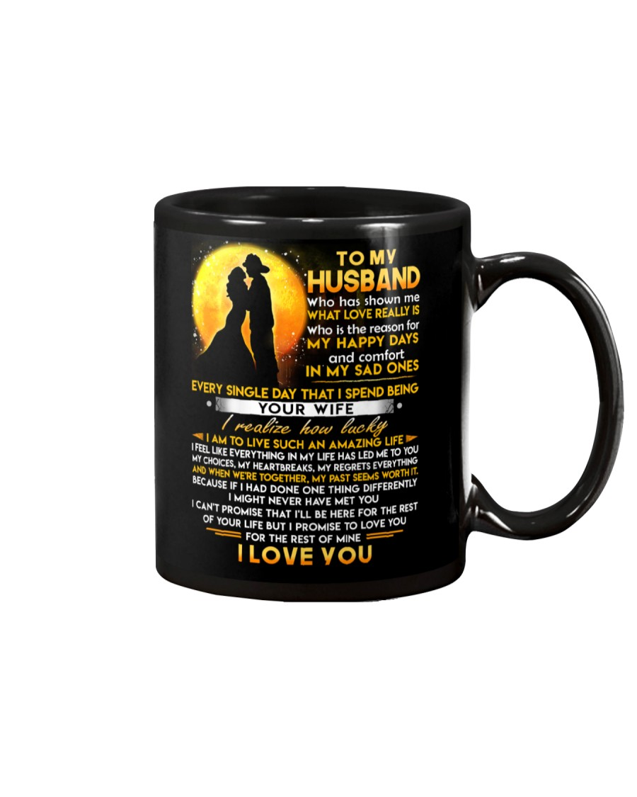 Firefighter Husband Lucky To Live Amazing Life Mug
