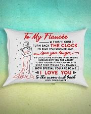 Family Fiancee The Clock The Moon Rectangular Pillowcase aos-pillow-rectangle-front-lifestyle-3