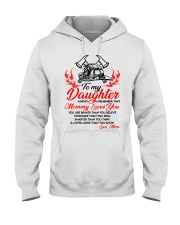 Firefighter Mommy Loves You Daughter Mom Hooded Sweatshirt thumbnail
