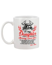 Firefighter Mommy Loves You Daughter Mom Mug back
