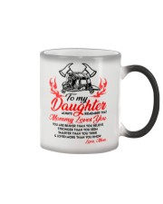 Firefighter Mommy Loves You Daughter Mom Color Changing Mug thumbnail