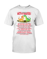 Dinosaur Faithful Partner True Love Boyfriend Classic T-Shirt thumbnail