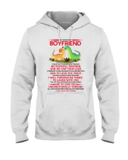 Dinosaur Faithful Partner True Love Boyfriend Hooded Sweatshirt thumbnail