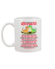 Dinosaur Faithful Partner True Love Boyfriend Mug back