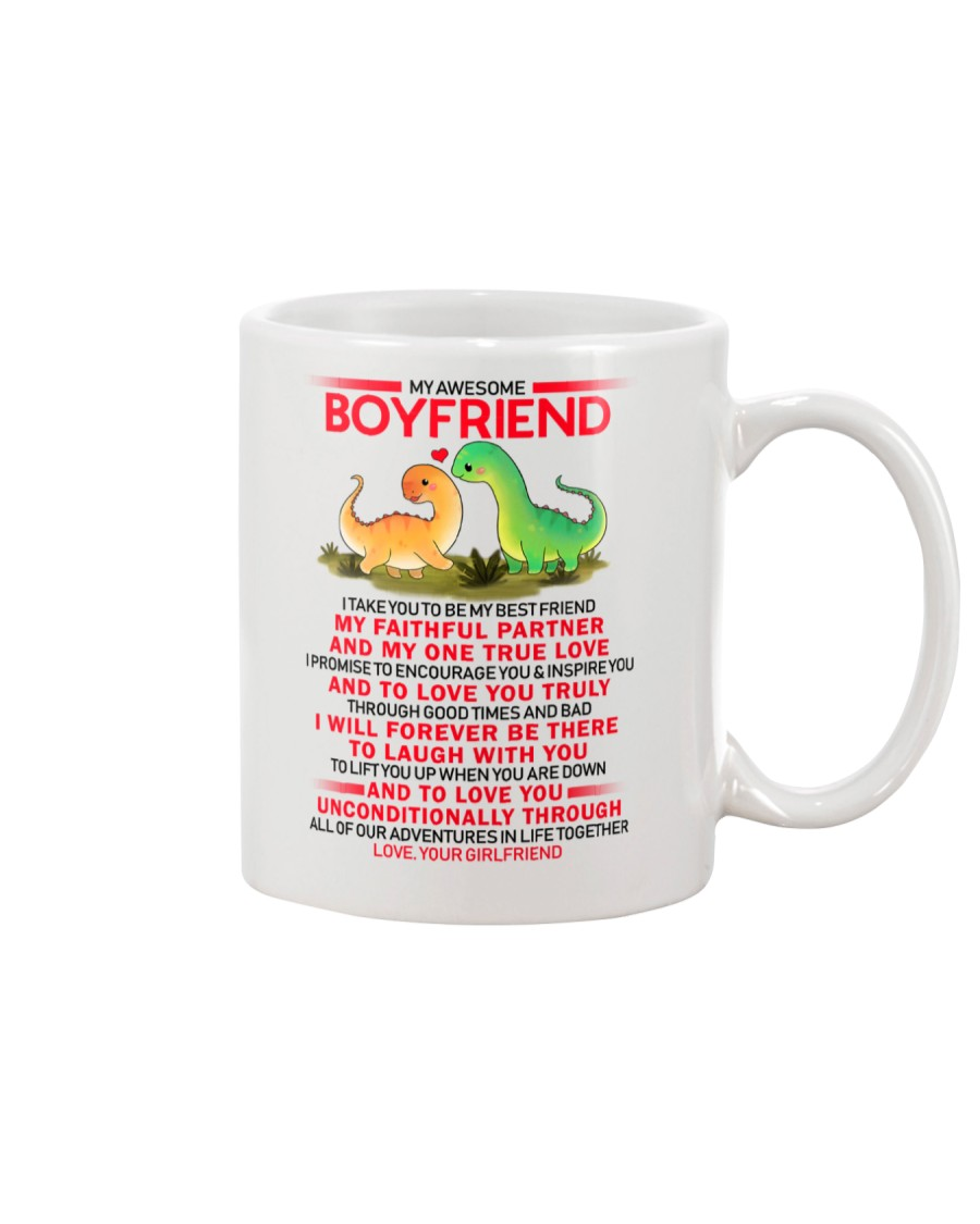 Dinosaur Faithful Partner True Love Boyfriend Mug