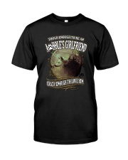 Tough To Be Asshole Girlfriend Wolf  Classic T-Shirt front