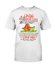 Dinosaur Wife Clock Ability Moon Classic T-Shirt thumbnail