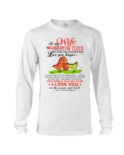 Dinosaur Wife Clock Ability Moon Long Sleeve Tee thumbnail