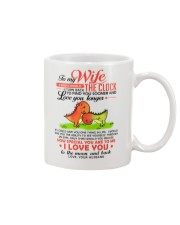 Dinosaur Wife Clock Ability Moon Mug front