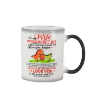 Dinosaur Wife Clock Ability Moon Color Changing Mug tile