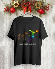 Unicorn Dare To Be Yourself Tshirt Classic T-Shirt lifestyle-holiday-crewneck-front-2