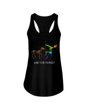 Unicorn Dare To Be Yourself Tshirt Ladies Flowy Tank thumbnail