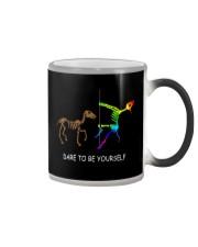 Unicorn Dare To Be Yourself Tshirt Color Changing Mug thumbnail
