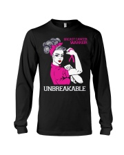 Breast Cancer Warrior Unbreakable Long Sleeve Tee tile