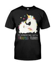Unicorn Grandma And I Got In Trouble Today Classic T-Shirt thumbnail