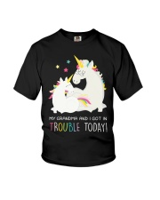 Unicorn Grandma And I Got In Trouble Today Youth T-Shirt front