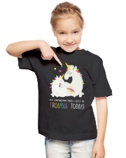 Unicorn Grandma And I Got In Trouble Today Youth T-Shirt lifestyle-youth-tshirt-front-2