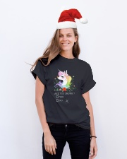 Unicorn Are You Drunk  Classic T-Shirt lifestyle-holiday-crewneck-front-1