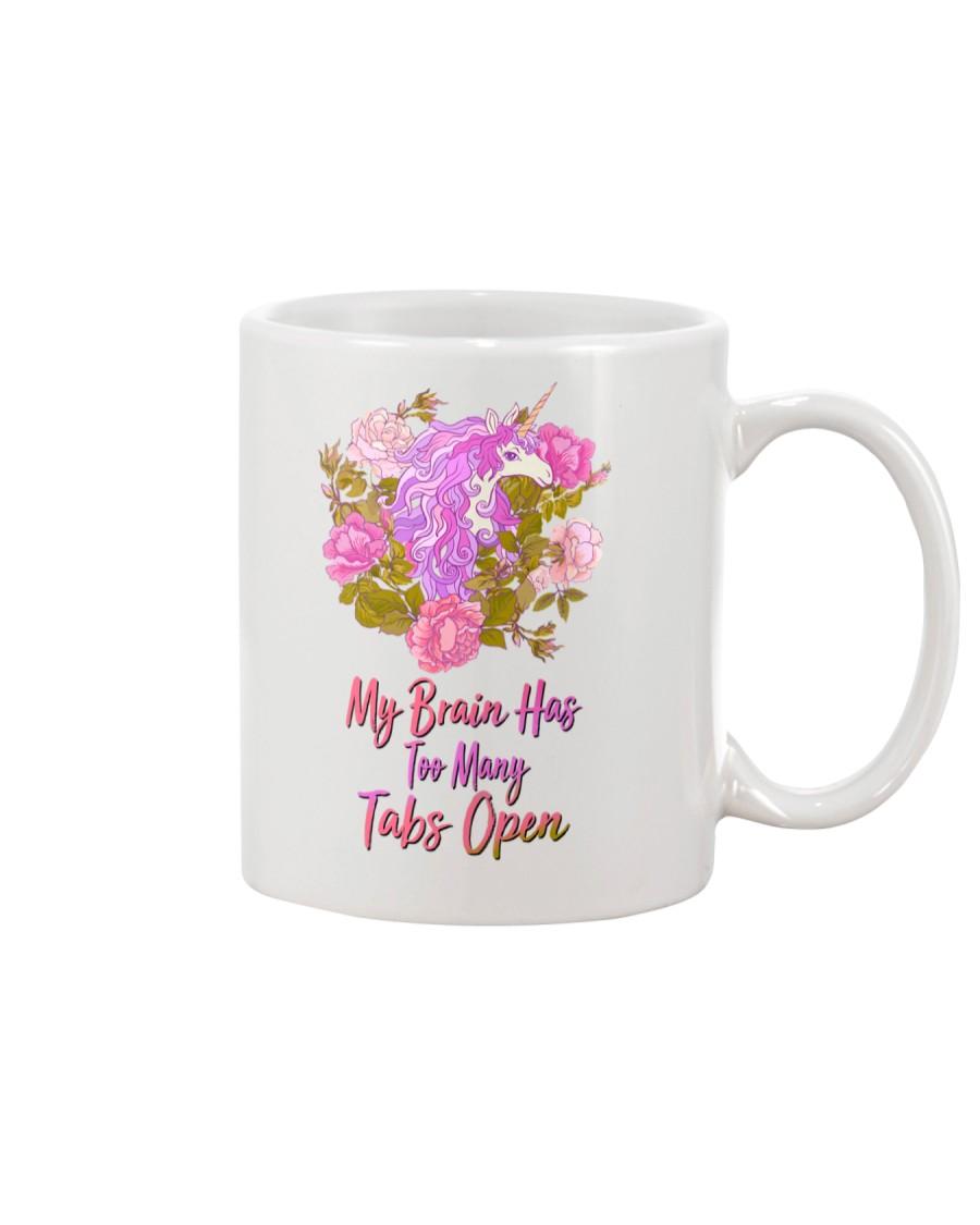 My Brain Has Too Many Tabs Open Unicorn  Mug