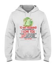 Dinosaur Husband I Love You Hooded Sweatshirt thumbnail
