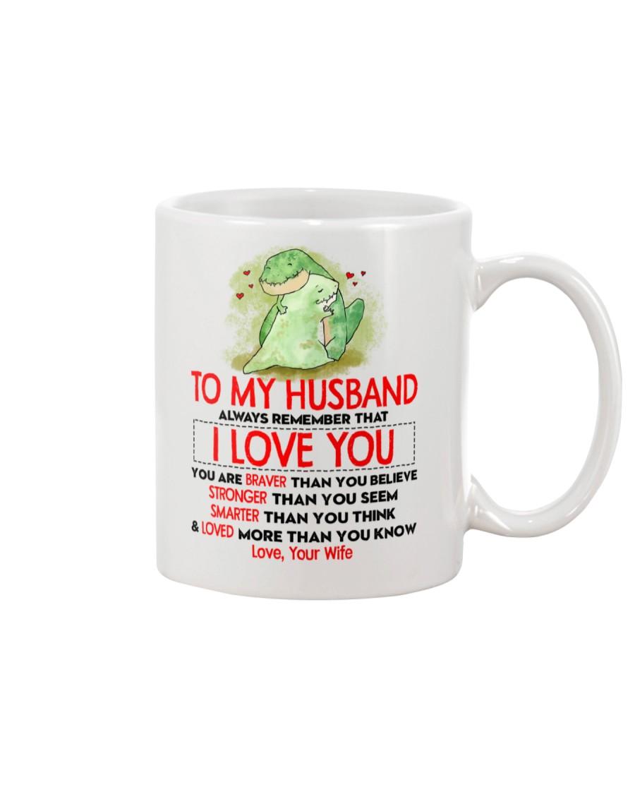 Dinosaur Husband I Love You Mug