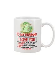 Dinosaur Husband I Love You Mug front