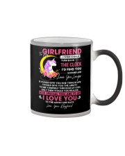 Unicorn Girlfriend Clock Ability Moon Color Changing Mug tile