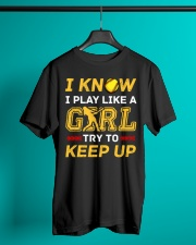 Softball play like a girl  Classic T-Shirt lifestyle-mens-crewneck-front-3
