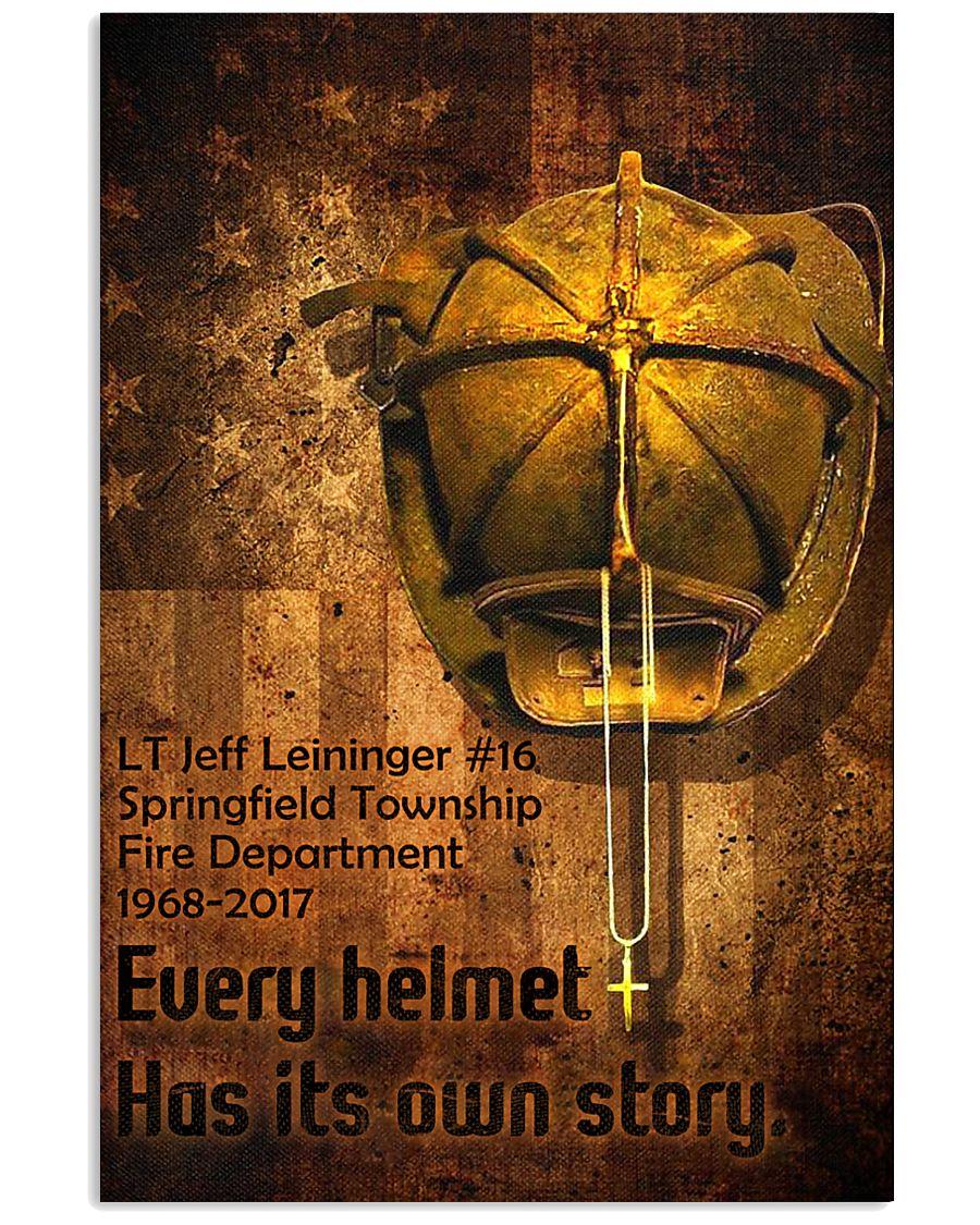 Firefighter Helmet Poster 11x17 Poster