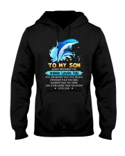 Dolphin Son Dad Daddy Loves Loves You Hooded Sweatshirt thumbnail