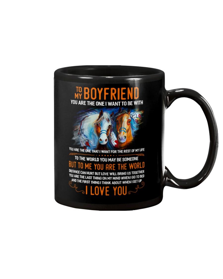 Horse Boyfriend To Me You Are The World Mug