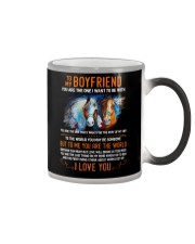 Horse Boyfriend To Me You Are The World Color Changing Mug thumbnail