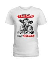 Farmer heifer bad mood  Ladies T-Shirt thumbnail