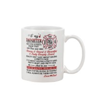 Firefighter Beautiful Inside And Out Daughter Dad Mug front