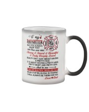 Firefighter Beautiful Inside And Out Daughter Dad Color Changing Mug thumbnail
