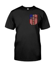 Firefighter Stand For The Flag Classic T-Shirt front