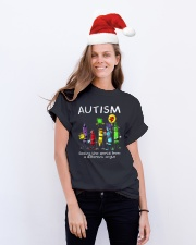 Autism Crayon Different Angle Classic T-Shirt lifestyle-holiday-crewneck-front-1