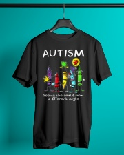 Autism Crayon Different Angle Classic T-Shirt lifestyle-mens-crewneck-front-3