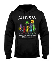 Autism Crayon Different Angle Hooded Sweatshirt thumbnail