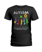 Autism Crayon Different Angle Ladies T-Shirt thumbnail