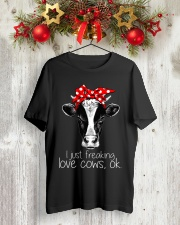 Farmer freaking love cows Classic T-Shirt lifestyle-holiday-crewneck-front-2