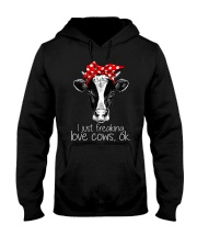 Farmer freaking love cows Hooded Sweatshirt thumbnail