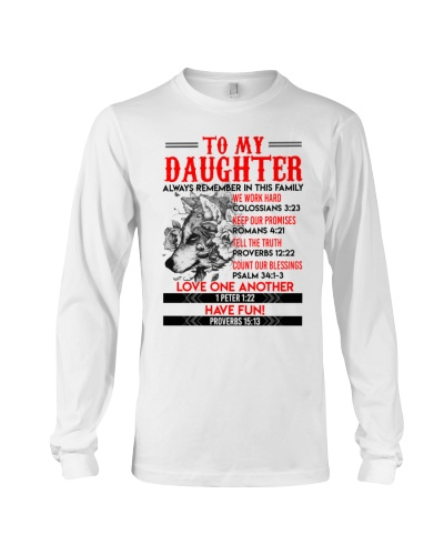 Wolf Daughter Always remember In This Family