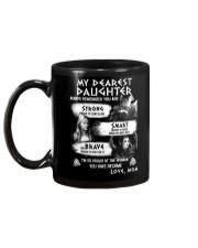Always Remember Mom Daughter Viking Mug back