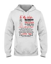 Family Wife Clock Marrying Moon Hooded Sweatshirt thumbnail