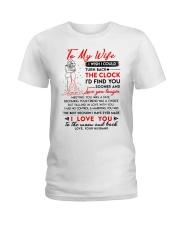 Family Wife Clock Marrying Moon Ladies T-Shirt thumbnail